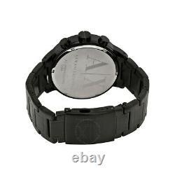 Armani Exchange Chronographe 49mm Noir Ion Plaqué Montre En Acier Ax1277 Sd Hommes