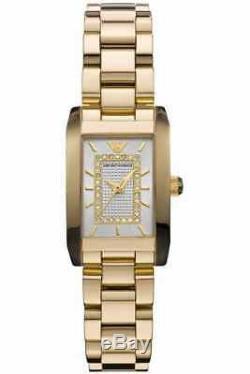 Armani Montre Femme Le Diamant Ar3172 Bracelet En Métal Cadran Argenté, Coa, Rrp 499.00