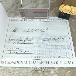 Authentique Cartier Essence Lighter 18k Plaqué Or Finition Godron Avec Boîtier Et Papiers