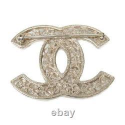 Authentique Chanel Coco Mark Broche 06a Or Placage Or Blanc Rose Utilisé CC