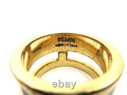 Authentique Fendi Monster Ring Eu59 Us9.5 Jp19 Gold Plated Box 94094 B