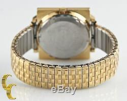 Automatique Tv Plaqué Or Pour Seiko Hommes Cadran 21 Jewels 6119 Avec Day & Date