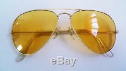 Aviateur Ambermatic 58mm Ray-ban Bausch & Lomb Vintage 1974