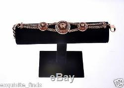 Brand New Versace Plaqué Et Cristaux Bracelet En Or Rose