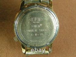 Bulova Accutron 2181 1974 Présentation Des Employés Dupont 10k Plaque D'or Roulée