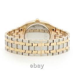 Bulova Phantom Mens Rose Gold Plaqué Stainless Crystal Quartz Watch 98b324