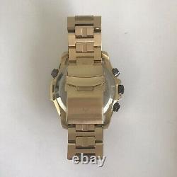 Bulova Precisionist Homme Or Plaqué Gris Cadran Chronograph Watch 98b271