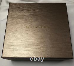 Bvlgari Genuine Mens Gold Plaqué Lunettes Cadre 1104k Italie 56-17-145