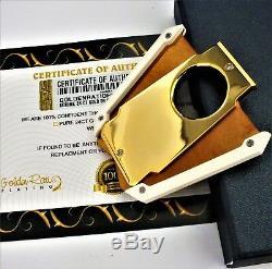 Cadeau De Guillotine De Voyage De Métal De Coupeur De Cigare De Métal De Coupeur De Cigare De Cohiba Plaqué Dans Une Boîte
