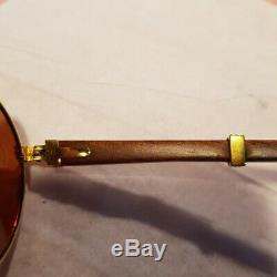 Cartier Bois Sunglass Auteuil Plaqué Or Vintage Ultra Rare 135/18/55 Limited