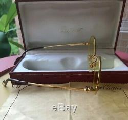 Cartier Cadre Authentique Plaqué Or, Vintage Lunettes Marque New- Cartier Case