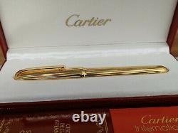 Cartier Louis Cartier Godron Stylo De Fontaine Doré, Nos