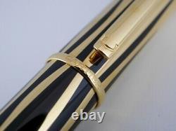 Cartier Mini Diabolo Gold Plaqué Et Black Fountain Pen F (excellent)