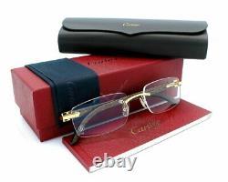 Cartier Or Avec Temples En Bois Brun 53mm Vêtements Unisexe Ct0052o 005