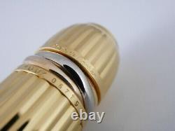 Cartier Pacha Black Lacquer Et Gold Plated Rollerball Pen Livraison Gratuite