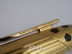 Cartier Panthere Gold Plaqué Fountain Pen F Livraison Gratuite Dans Le Monde Entier