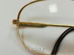 Cartier Paris 18k Or Plaqué Demi-cadre Style Classique Belles Lunettes Vintage