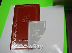 Cartier Rivoli Lunettes Oeil De Chien Vintage Or 18 Carats Plaqué Or 54-19