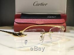Cartier Smooth Buffs Gold Wood Vintage Lunettes De Soleil Lunettes De Soleil Cadres