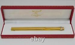Cartier Vendome Or Ovale Stylo À Bille Plaqué Avec Boîte Livraison Gratuite