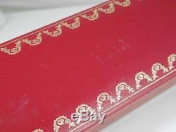Cartier Vendôme Ovale Plaqué Or Et Bordeaux Résine Grille Stylo À Bille Avec La Boîte
