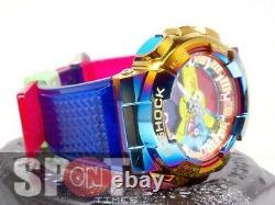 Casio G-shock Rainbow Ion Placage Bezel Distinctive Men's Watch Gm-110rb-2a