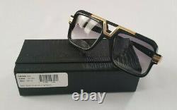 Cazal Legends Mod. 664/3 Col. 001 Gloss Black 18k Gold Plated Sunglasses Allemagne