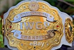 Ceinture De Championnat Intercontinental Iwgp. Taille Adulte Laiton Métal Double Plaqué
