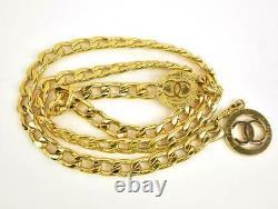 Chanel Gold, Metal Chain CC Medallion Belt/necklace S'adapte Jusqu'à 32 (nr)