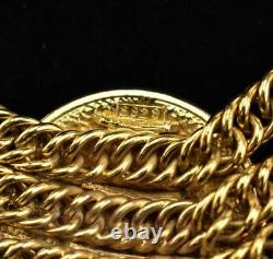 Chanel Gold-plated Metal Chain & Logo Medallion Collier (mt)