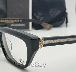 Chrome Hearts Lunettes Optitcal Cadres Noir Et 18k Argent Sterling Plaqué Or