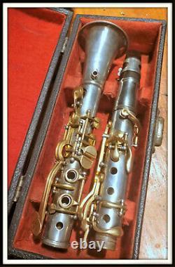 Conn Metal Eb Albert HP Clarinet Avec Des Clés Plaquées Or. C. 1895