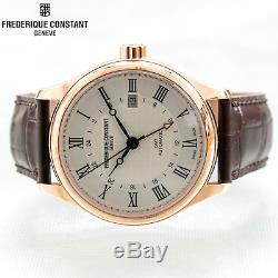 Constant Classics Frederique Gmt Plaqué Or Rose Date Automatique Fc-350mc5b4 Os