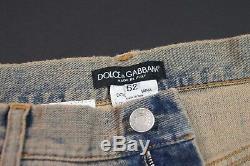 Dolce & Gabbana'14 Gold 'jean Droit Délavé En Plaque De Métal Pour Jeans Neuf Tno
