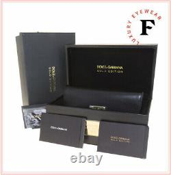 Dolce & Gabbana 2114 18k Gold Plated Metal Lunettes De Soleil Miroir Dg2114k Limited