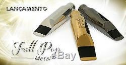 Embouchure Soprano Sax Full Metal # 7 En Métal Plaqué Or, Fabriquée Au Brésil