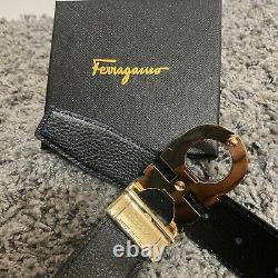 Ferragamo Belt Boucle Plaquée Or Pour Homme Taille 32-36 / 110