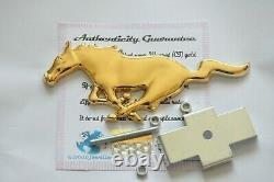 Ford Mustang Gt Horse Grille Grill Metal Emblem Car Badge 24k Gold Plaqué