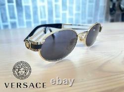 Gianni Versace Mod S68 Lunettes De Soleil Plaquées Or Fabriquées En Italie