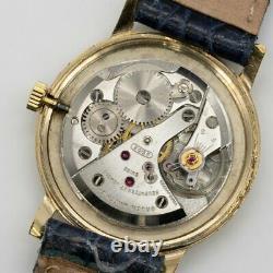 Gruen Precision 510 299a Hand Winding Cal. N510r Silver Dial Gold Plate Homme