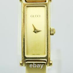 Gucci 1500 Montres Quartz Femme Vintage Rectangle Plaqué Or Swiss Made