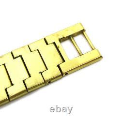 Gucci 3300m Quartz Montre-bracelet Homme Montre Or Plaquée Or Authentic 36856