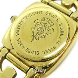 Gucci 6400l Ladies Quartz Montre-bracelet Gold Plaquée 0089773 31195