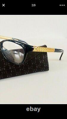 Gucci Femme Or Plaqué Diamantissima Optical Frames Glasses $665