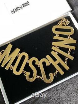 H & M Moschino Plaqué Or Collier Ras Du Cou H & Moschino