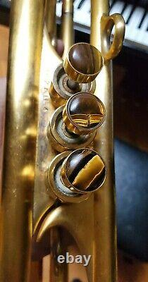 Harrelson Bravura Trompette Personnalisée (3) Tuning Diapositives Gravure Gold Plated