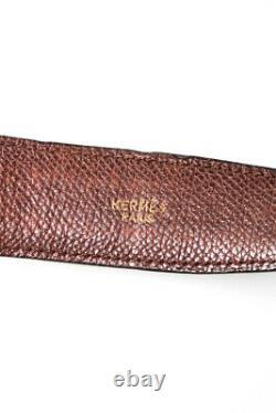 Hermes Femmes Reversible 32mm H Ceinture Kit Or Plaqué Hardware Noir Brown