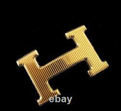 Hermès Plaqué Or Calandre Buckle H 32mm