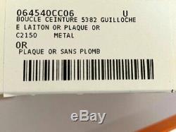 Hermes Plaqué Or Guillochee Boucle H 32mm, Nouveau Dans White Box Et Pochette