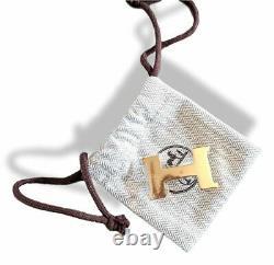 Hermès Plaqué Or Mini Constance Buckle 24 Mm, Nouveau Avec Pochette Et White Box